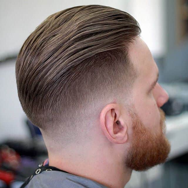 Tapered Slicked Back Undercut for Men