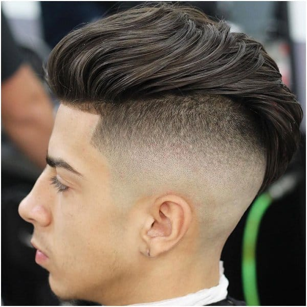 layered slick back undercut for men