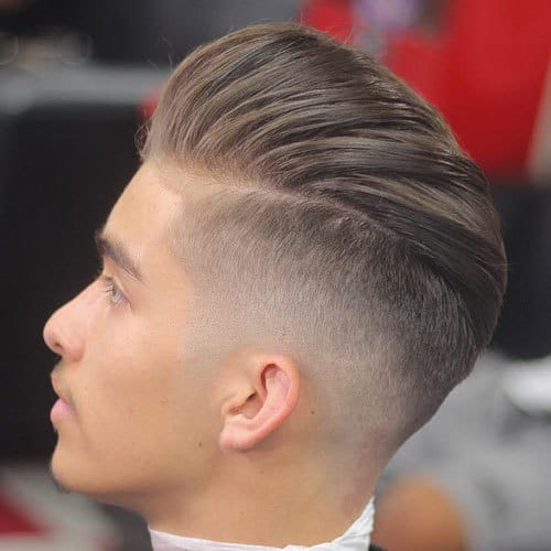 Slicked Back Undercut with Pompadour