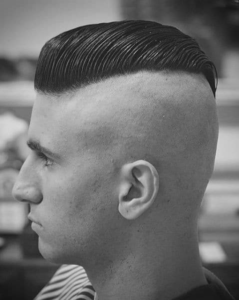 Slicked Back Undercut with Buzz Cut Sides