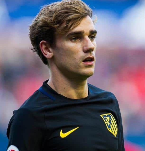 Antoine Griezmann's layered hairstyle
