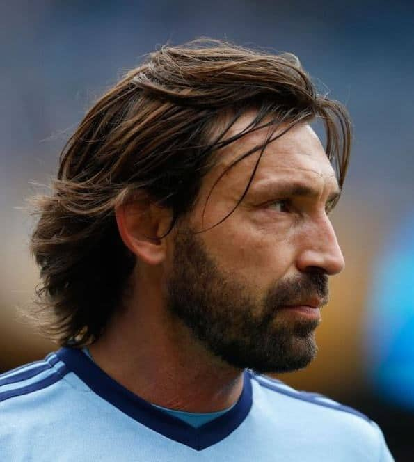Andrea Pirlo's mid length hairstyle