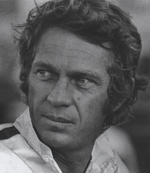 Picture of Steve McQueen longer hair.