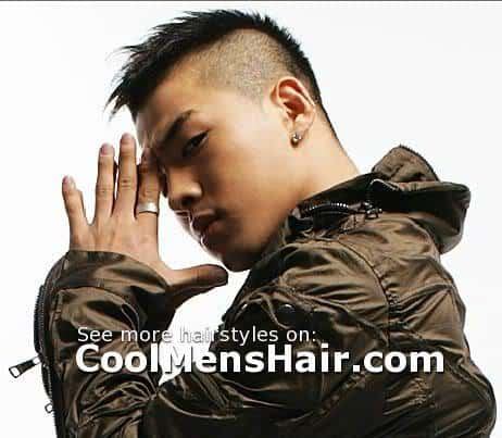 Taeyang mohawk hair photo for young men.