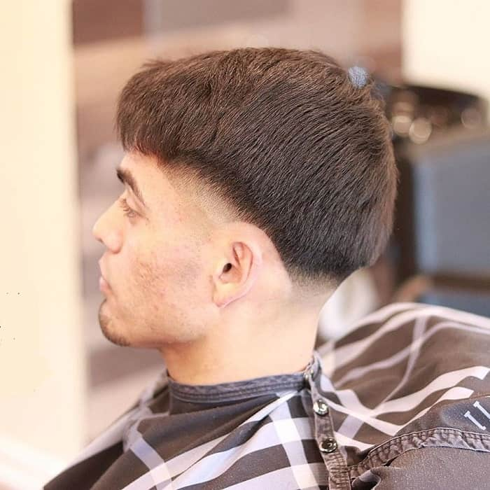 taper fade for straight hair