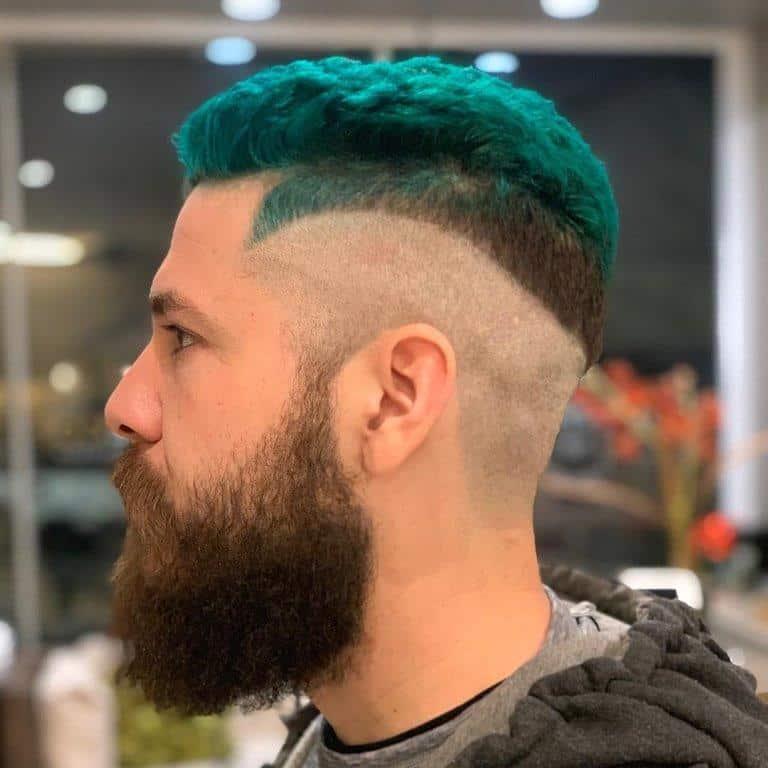 taper fade with beard