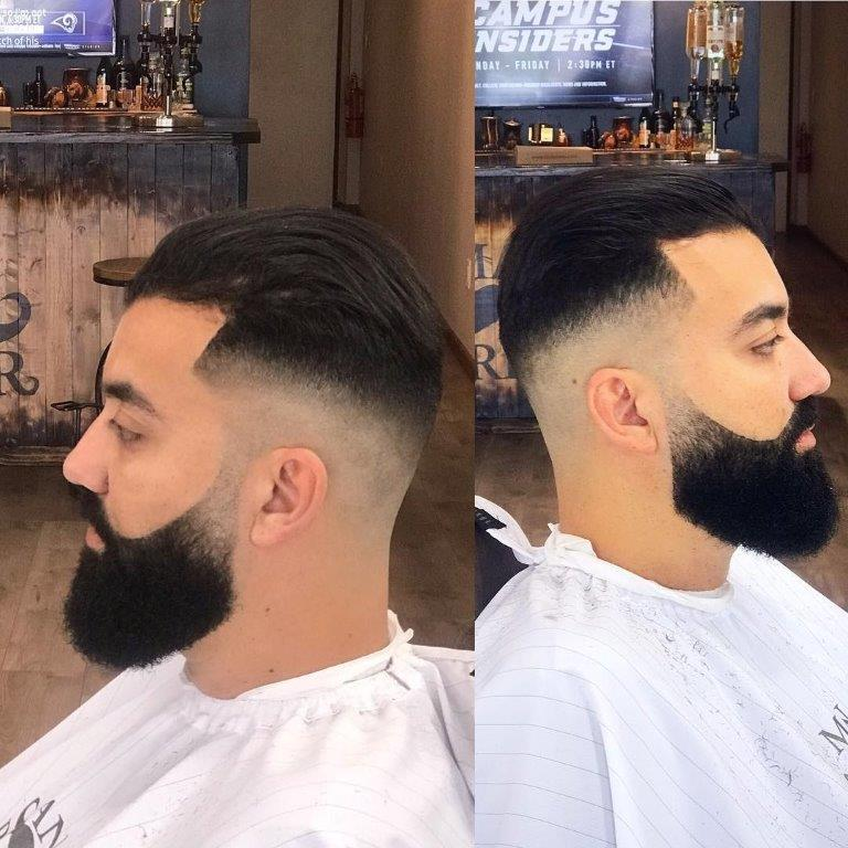taper skin fade with thick beard