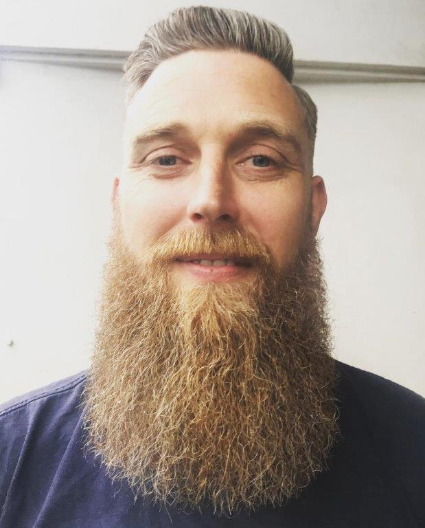 taper fade hairstyles with long beard