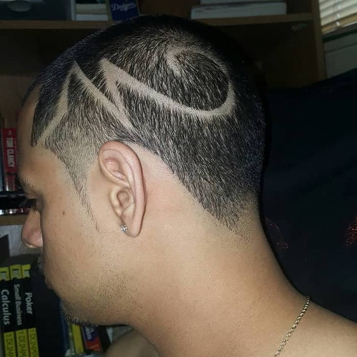 Designed Buzz Cut with Tapered Hair