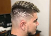 taper fade cut with designs for guys