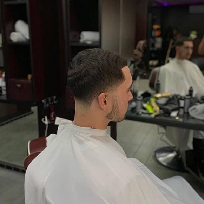Medium Taper Fade on Wavy Hair