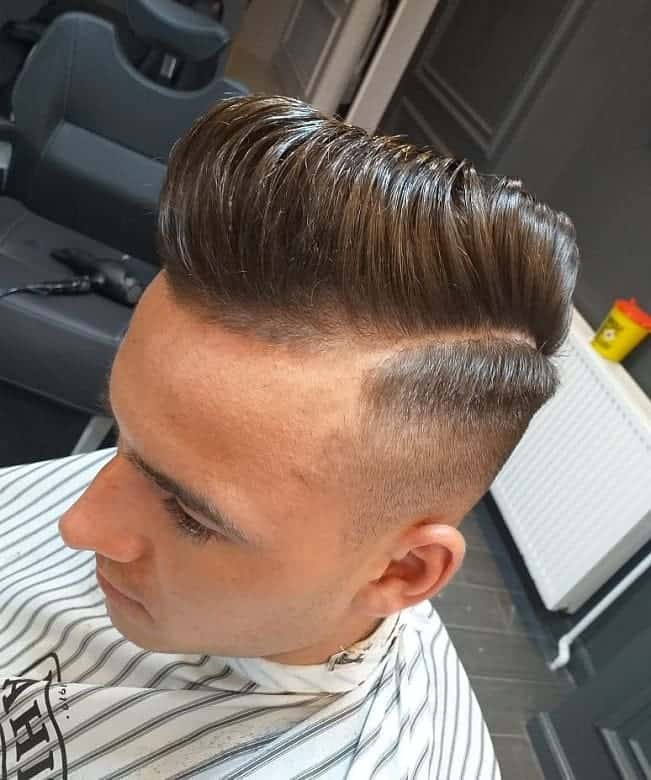 high taper fade long hair