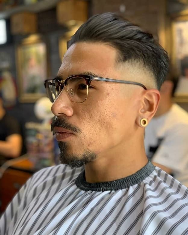 tapered crew cut with skin fade