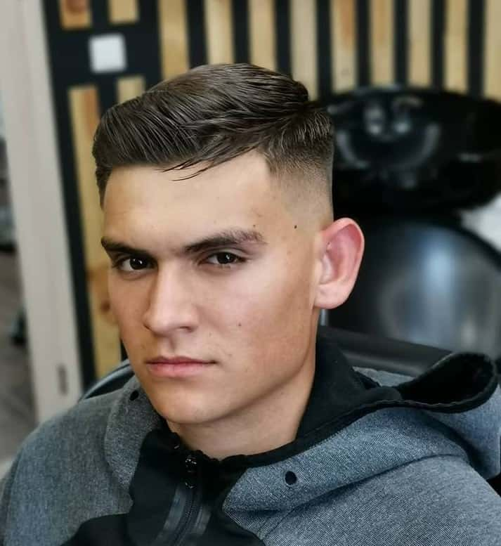 layered tapered crew cut