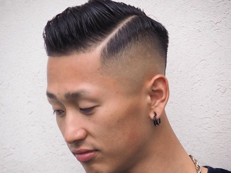 guy with tapered crew cut