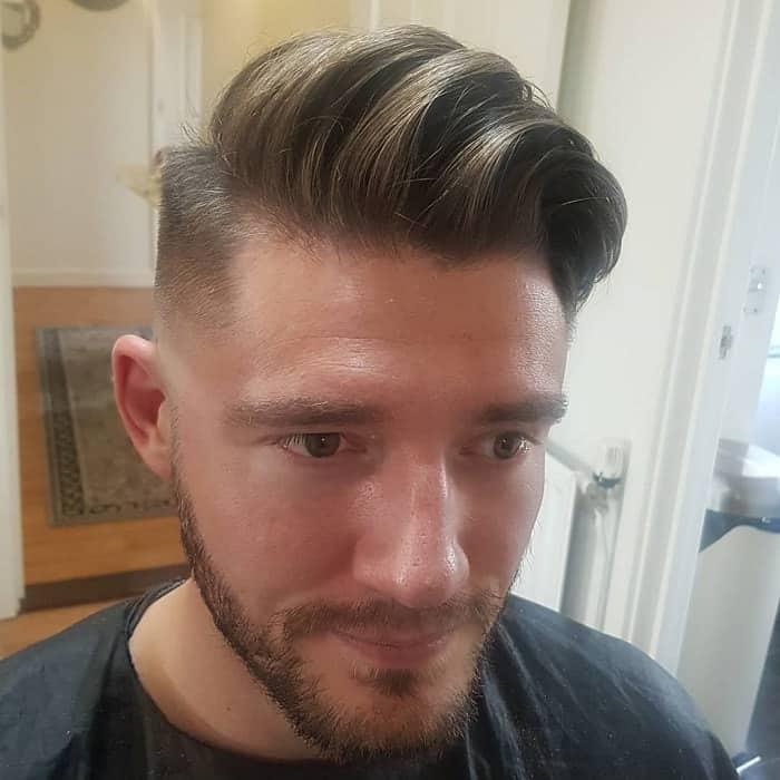 long tapered undercut hair