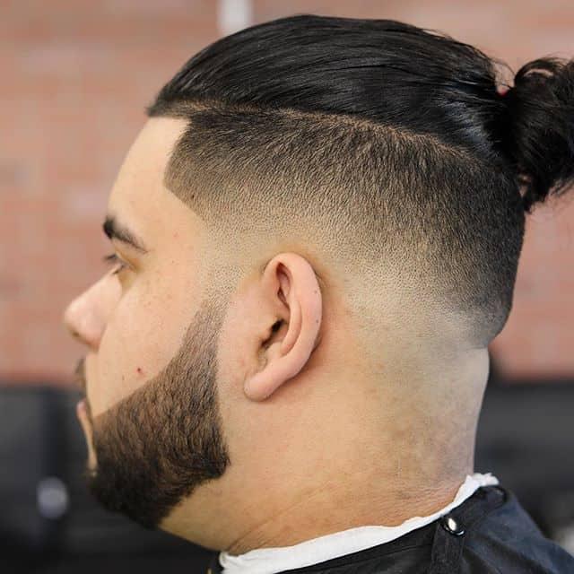 tapered undercut with man bun