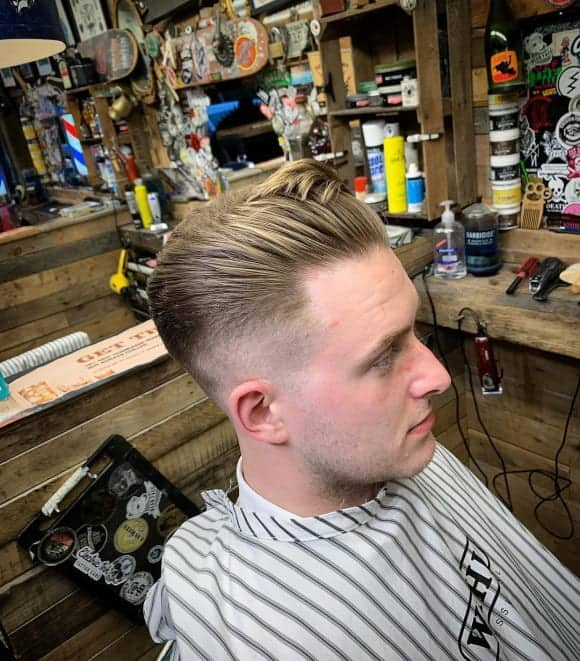 twisted fringe with tapered undercut