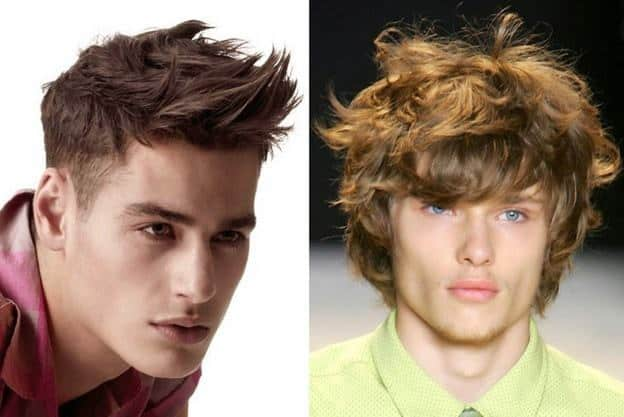 wavy tousled hairstyle for teenage boy