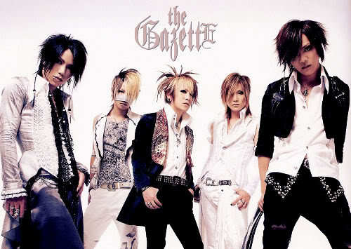 Photo of The GazettE, a Japanese visual kei rock band.