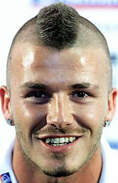 David Beckham Mohawk hairstyle