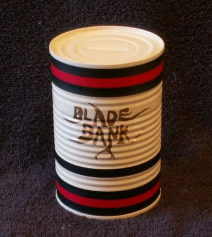 Photo of painted blades bank.