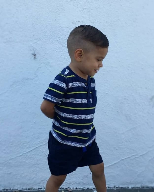short hair with fade for toddler boy