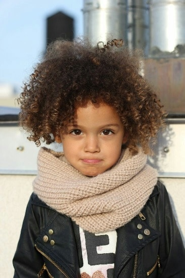 corkscrew curl hairstyle for mixed toddlers