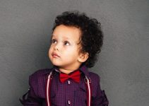 mixed toddlers hairstyle with curly hair
