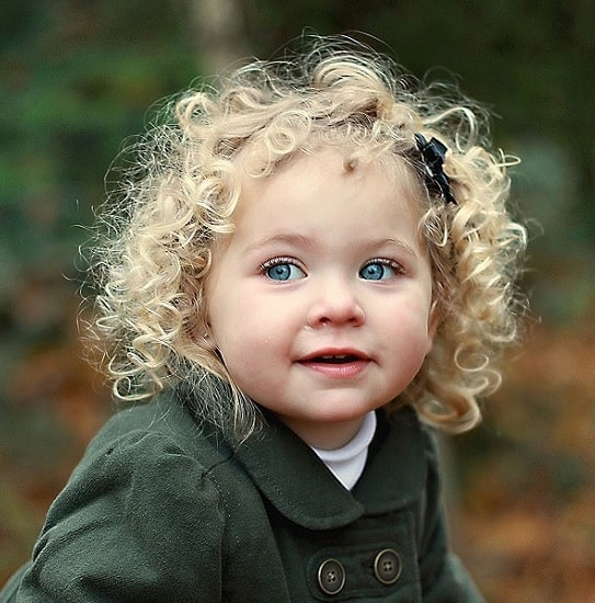 curly blonde hair for toddler girl