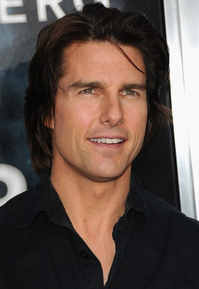 casual hairstyle of tom cruise