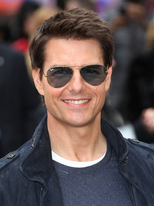 spiky hairstyle of tom cruise