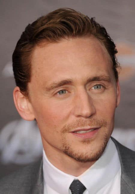 Photo of Tom Hiddleston hairstyle.
