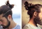 top knot and man bun side by side