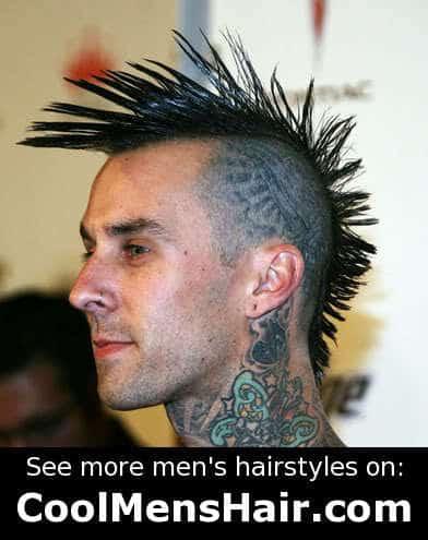 Fanned Mohawk haircut