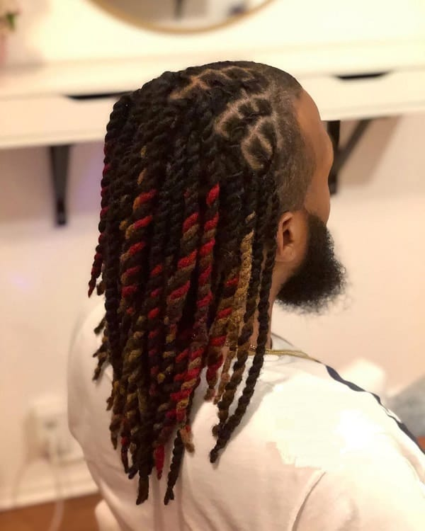 Twisted Long Hairstyles For Black Men