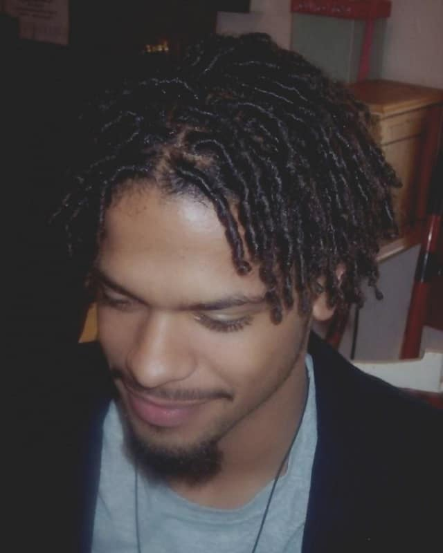 middle parted twist hairstyles for guys