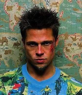 Picture of Tyler Durden Messy Spike Hairstyle
