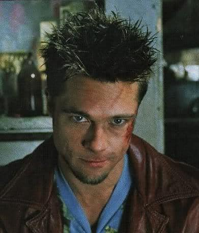 Picture of Tyler Durden Short Messy Spike Hairstyle
