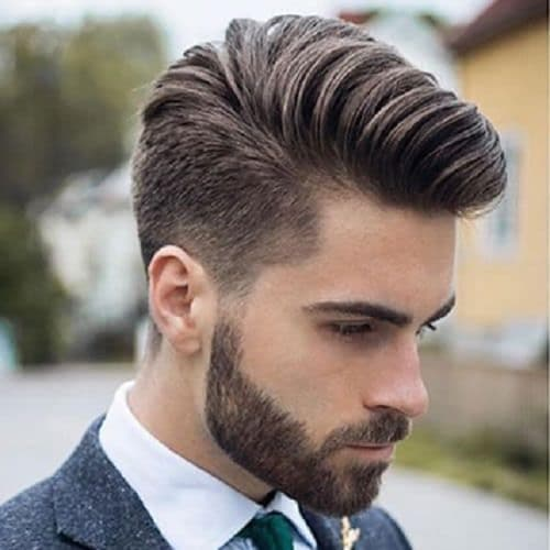 Comb over Medium Fade Undercut