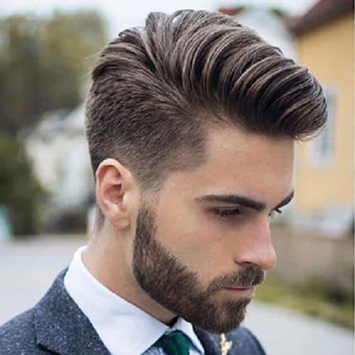 Comb over Medium Fade Undercut