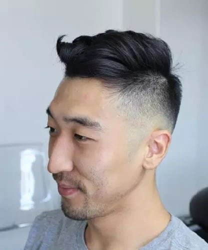 Men's High Fade Undercut with Comb Over