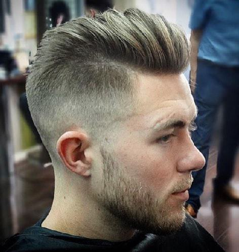 comb over with high fade undercut