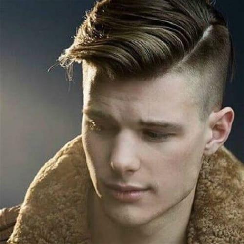 short undercut with comb over for men