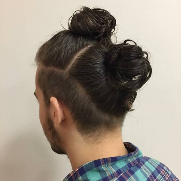 Double Man Bun with Undercut