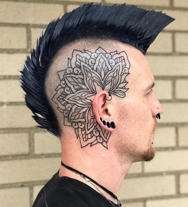 guy with undercut mohawk