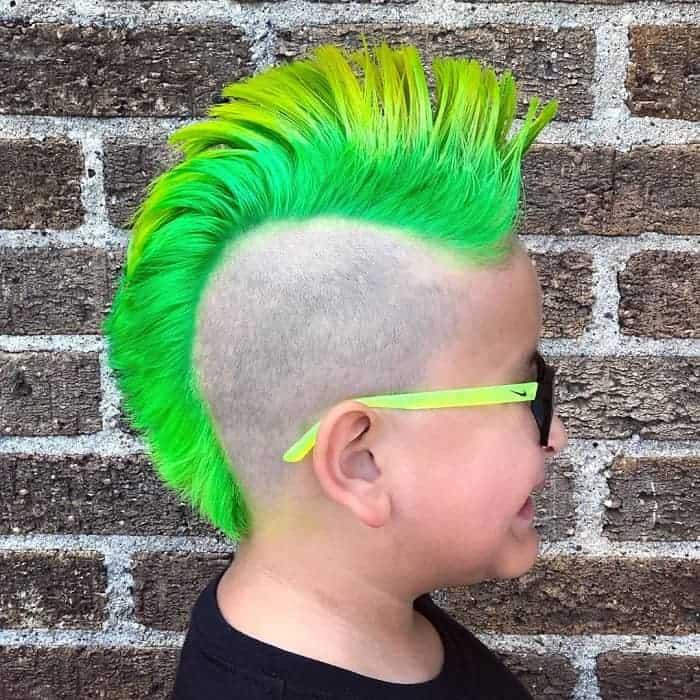 funky undercut mohawk hairstyle