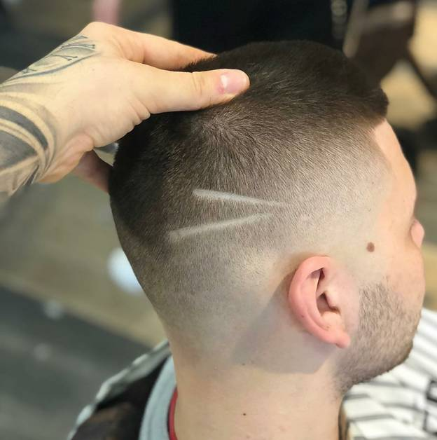 guy with very short haircut