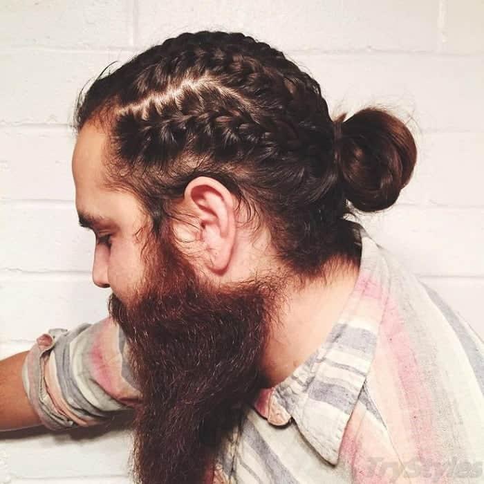 Viking Braided Bun for Men