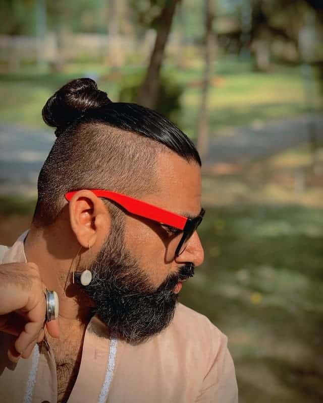 man bun for viking hair